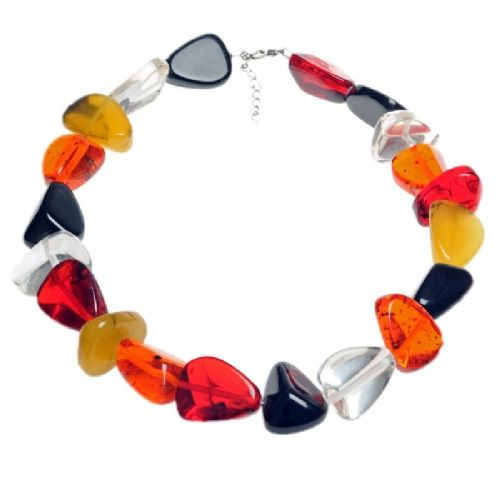 Jackie Brazil Flintstones Resin Necklace in Mix 7 Urban
